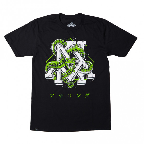 T-shirt Newaza Anaconda - Noir
