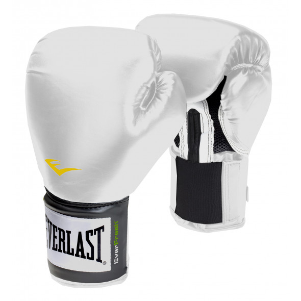 Gants de Boxe Everlast Velcro Pro Style TRNG - Blanc