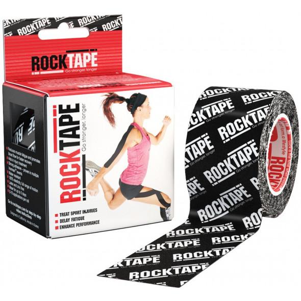 Bande Kinésiologie Rocktape™ 5cm X 5m - Noir Logo
