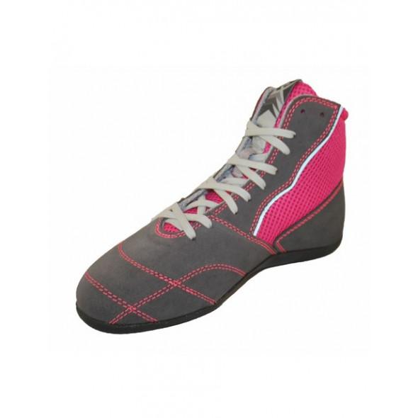 Chaussures de boxe française Femme Rivat Boom Lady - Gris/Rose