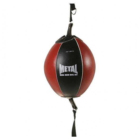Ballon double élastique Metal Boxe - Noir/Rouge