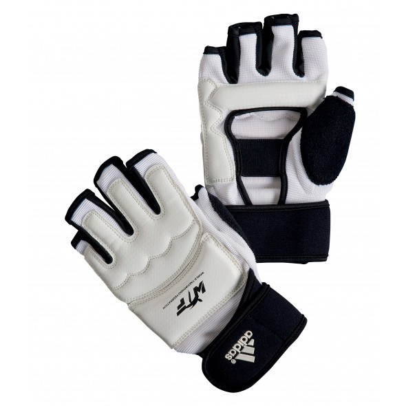 Mittens for Taekwondo training and competition from Adidas - White/Black