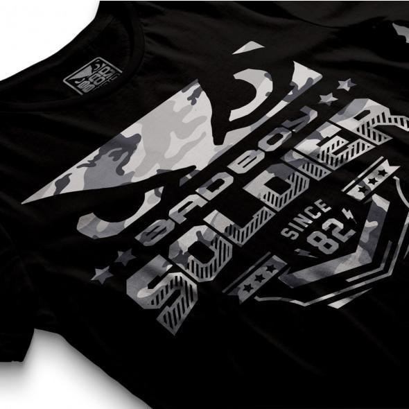 T-shirt Bad Boy Soldier - Noir/Gris