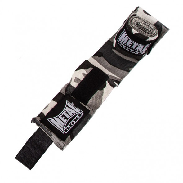 Bandes de boxe Metal Boxe - Camo Gris - 4 mètres