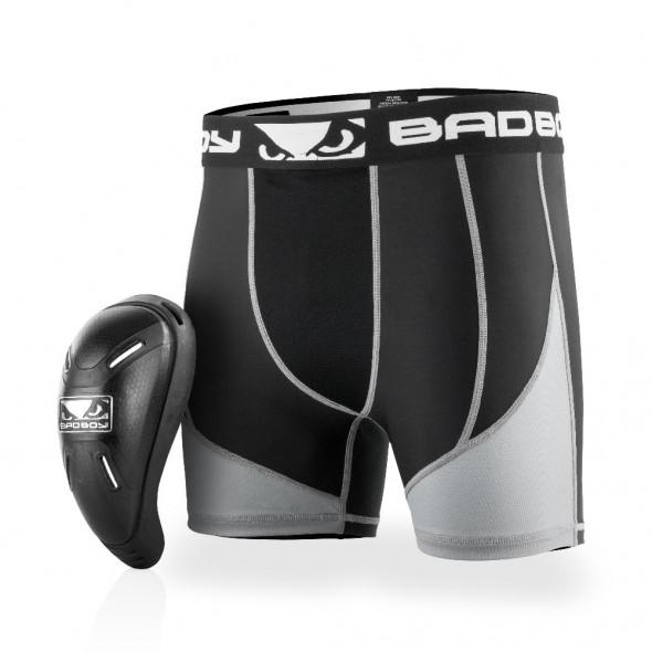 Short de compression + coquille Bad Boy Full Guard