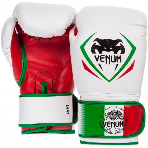 Venum Contender Boxing Gloves - Mexico - blanc