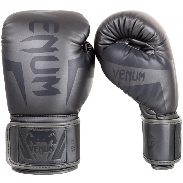 Venum Elite Boxing Gloves - Black/Red/Grey
