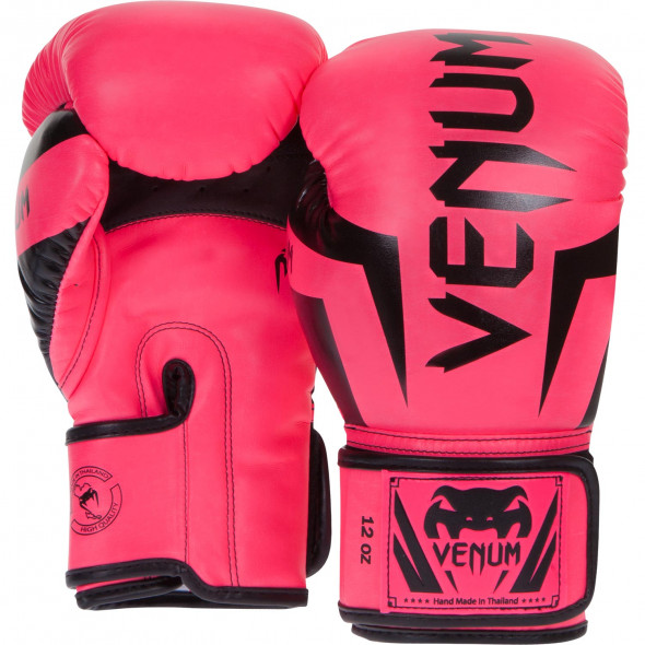 Venum Elite Boxing Gloves - Neo Pink