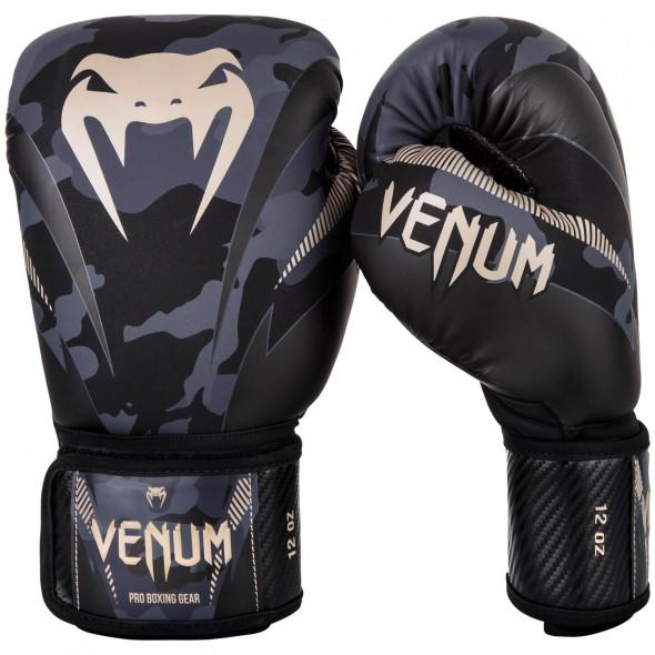 Venum Impact Boxing Gloves - Dark Camo/Sand