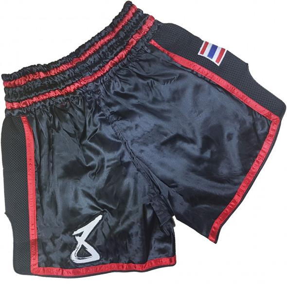 Short Muay Thai 8 WEAPONS Super Mesh - Noir/Rouge