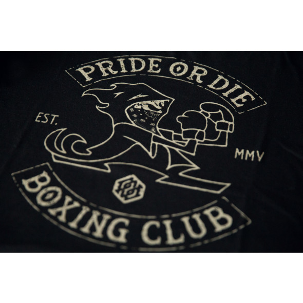 T-shirt Pride or Die Boxing Club - Noir