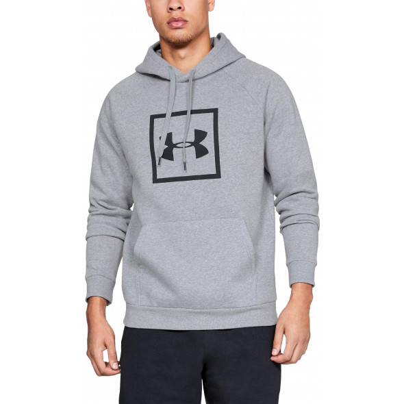 Sweat à capuche Under Armour Rival Fleece Logo - Gris