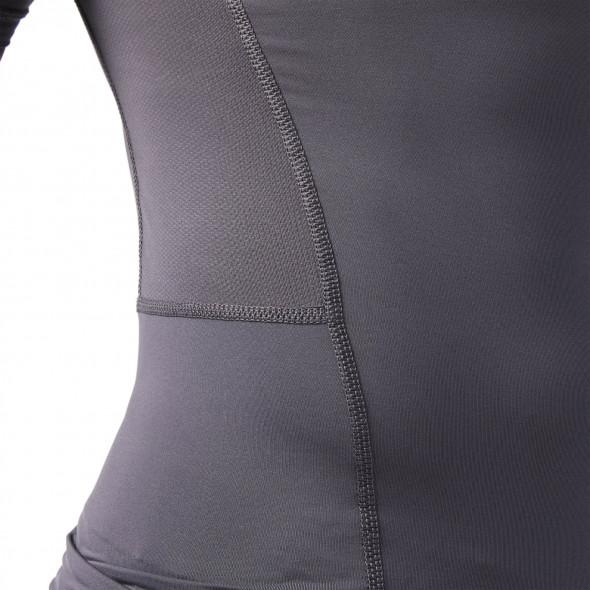 T-shirt de compression Reebok Workout Ready - Manches courtes - Gris