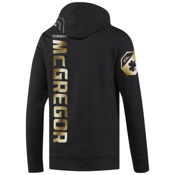 Sweatshirt à capuche Reebok UFC Fight Night Mc Gregor Walkout - Noir/Doré