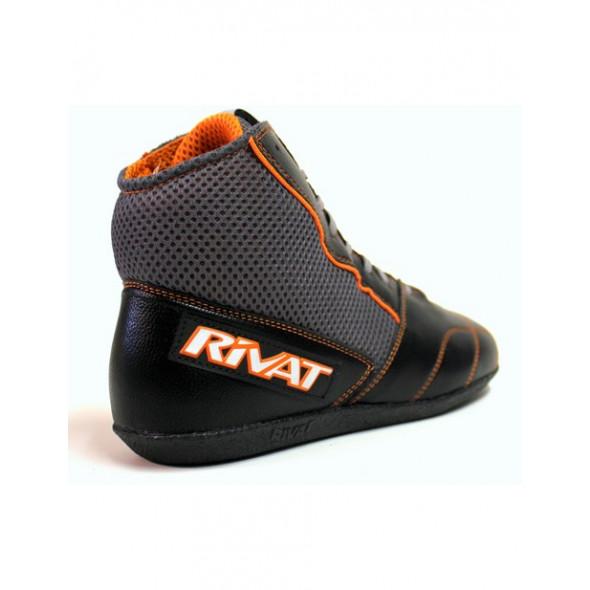 Chaussures de boxe française Rivat Uppercut - Noir/Gris