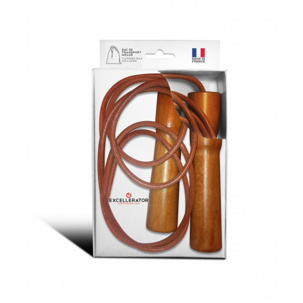 "Jump rope Excellerator wood and leather ""Vintage"""