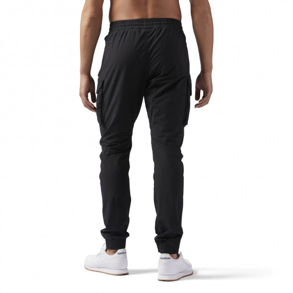 Pantalon en toile Reebok Noble Fight - Noir