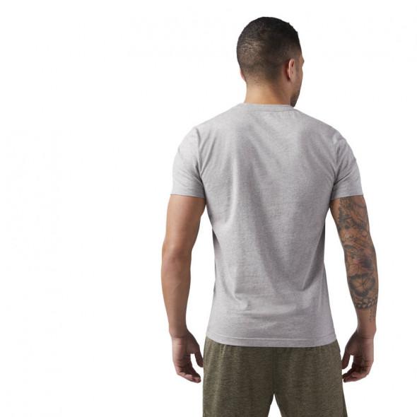 T-shirt avec inscription Reebok - Gris