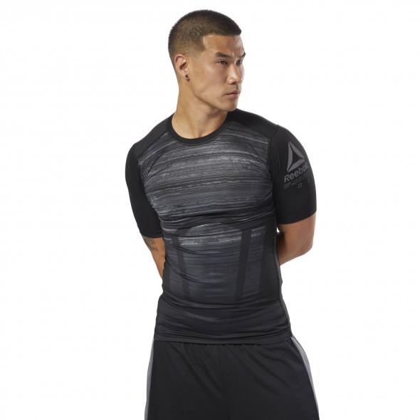 T-shirt de compression Reebok Activchill - Manches courtes - Noir