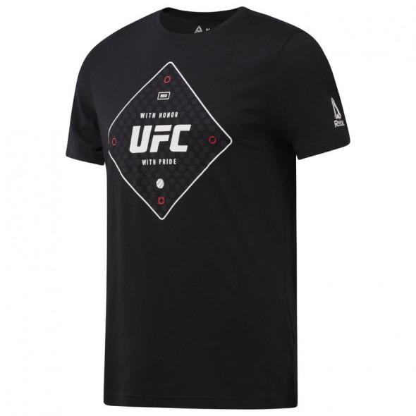 T-shirt Reebok avec motif UFC - Noir