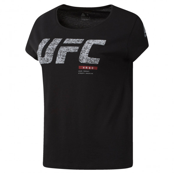 T-shirt Femme Reebok UFC Fight Week - Noir