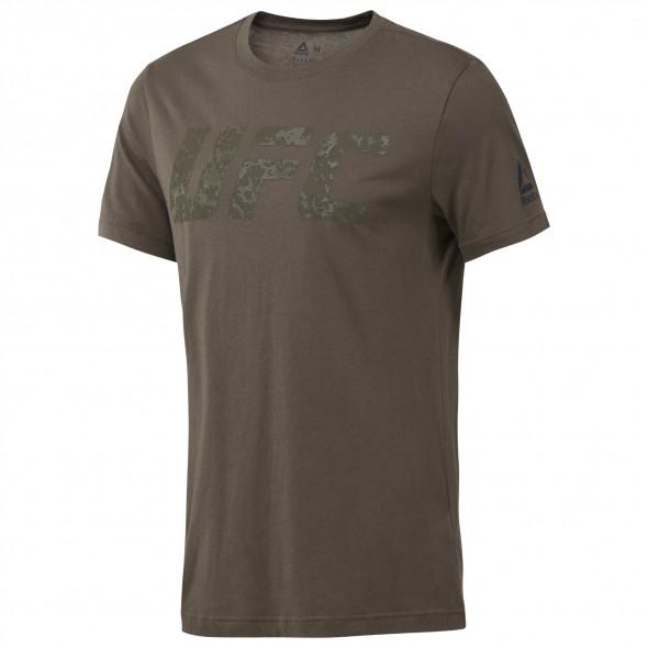 T-shirt Reebok avec logo UFC - Kaki