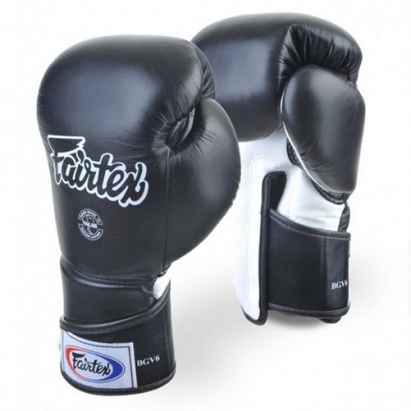 "Fairtex Boxing Gloves ""FXV6"" - Black"