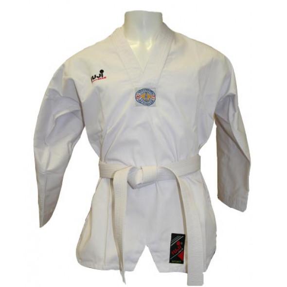 Dobok Fuji Mae Master, white collar, ribbed Canvas