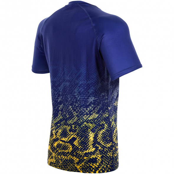 Venum Tropical T-shirt Dry Tech - Blue/Yellow