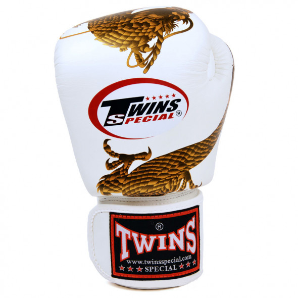 Gants de boxe Chinese Dragon - Twins - Blanc