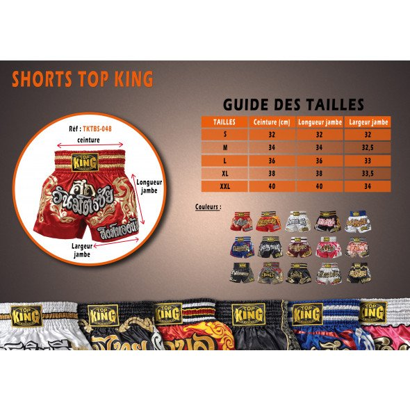 Top King Short Muay Thai Buakaw