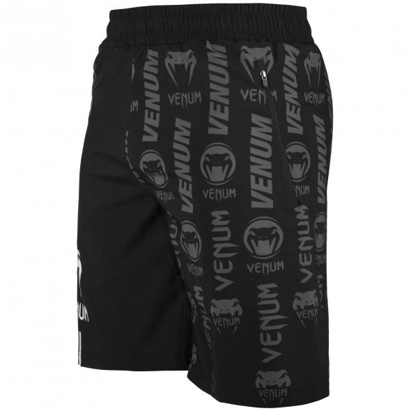Venum Logos Fitness Shorts - Black/White