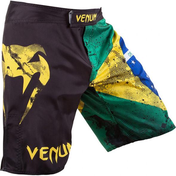"Venum ""Brazilian Flag"" Fightshorts - Black"