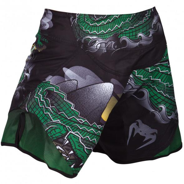 Venum Crocodile Fightshorts - Black/Green