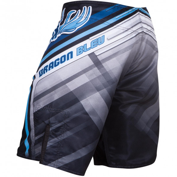 MMA Fight Shorts Dragon Bleu- Black