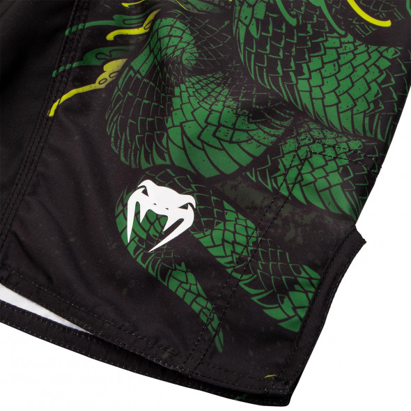 Venum Green Viper Kids Fightshorts - Black/Green
