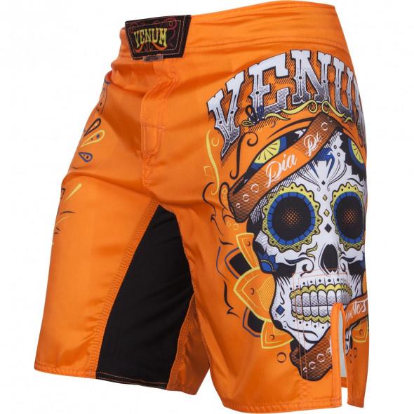 Venum Santa Muerte 2.0 Fight Shorts - Orange