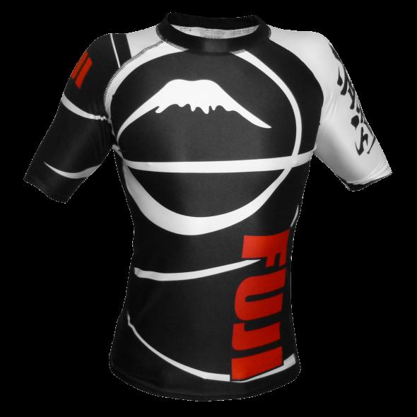 Rashguard Fuji Sports Freestyle IBJJF Ranked - Manches courtes - Noir