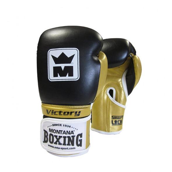 Gants de boxe Montana Victory 2018 Noir/Or