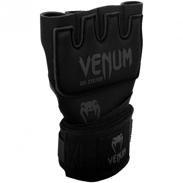 Venum Kontact Gel Glove Wraps-Black/Black