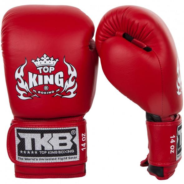 Gants de boxe Top King Super Double Velcro - Rouge/Noir