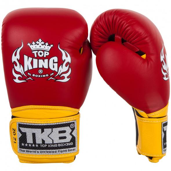 Gants de boxe Top King Super Air - Rouge/Jaune
