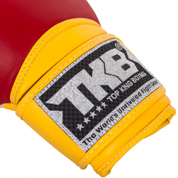 Top King Super Air Boxing Gloves - Red/Yellow