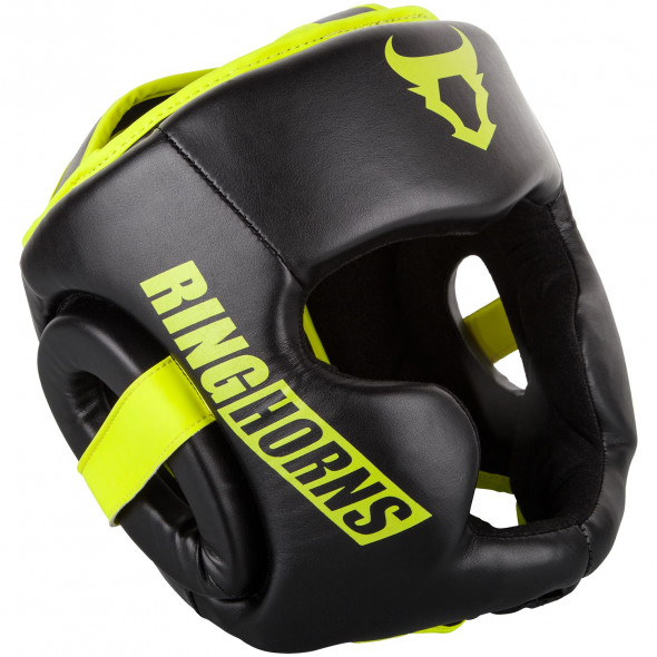Ringhorns Charger Headgear-Black/Neo Yellow