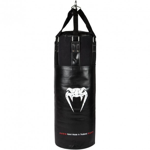 Venum Training Bag Leather - Black/White - Filled