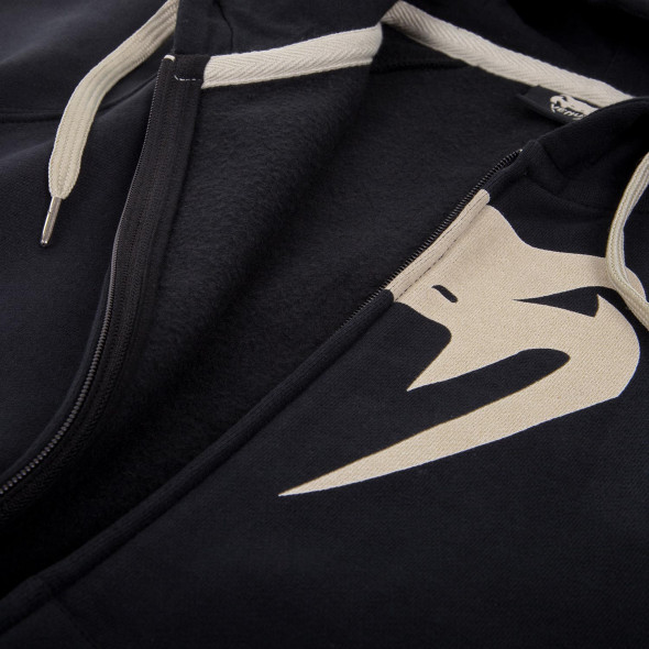 Venum Infinity Hoody with zip - Black - White logo