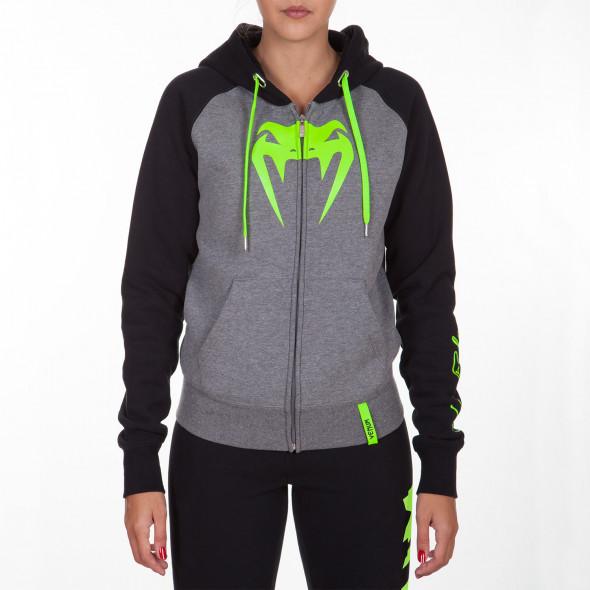 Venum Infinity Hoody with zip - Grey/Black - For Women