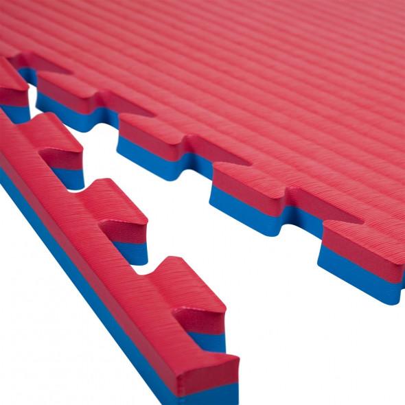 Puzzle mats 100x100x2cm (x10) - Red/Blue