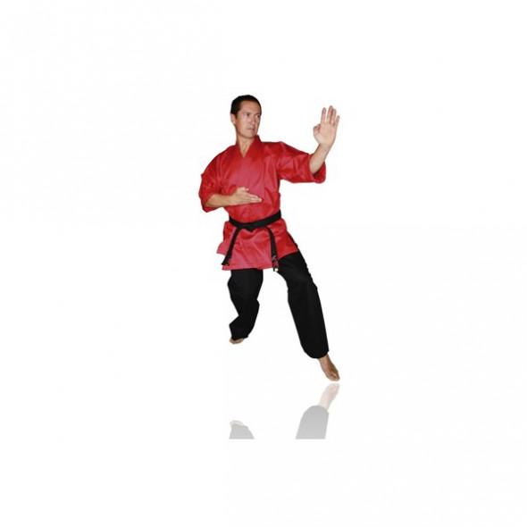 Kimono Autodéfense Fujimae - Veste Rouge / Pantalon Noir