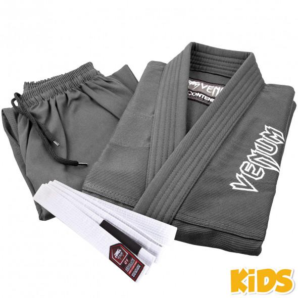 Venum Contender Kids BJJ Gi - Grey